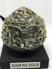 Jerusalem Old City Gate Globe w/Sterling Silver 925 w/ Gold Accents Souvenir