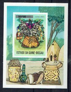 Capable Afrique Guinée Bissau Minr Bloc 11 Ab Estampillé-afficher Le Titre D'origine Pour Assurer Une Transmission En Douceur