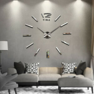 Image Is Loading Large Modern Frameless Wall Clock Style Watches