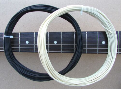 """50 ft/"""" Cloth Push Back  /""""TINNED/""""  Guitar Wire Black /& White 22 awg"""