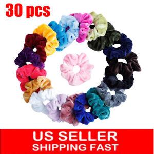 30Pack-Women-Girl-Hair-Scrunchies-Velvet-Elastic-Hair-Bands-Scrunchy-Hair-Ties