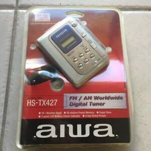 New Vintage Aiwa Stereo Cassette Tape Player w/Super Bass FM/AM Worldwide Tuner
