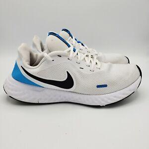 Nike-Revolution-5-Men-Size-11-Shoes-White-Black-Blue