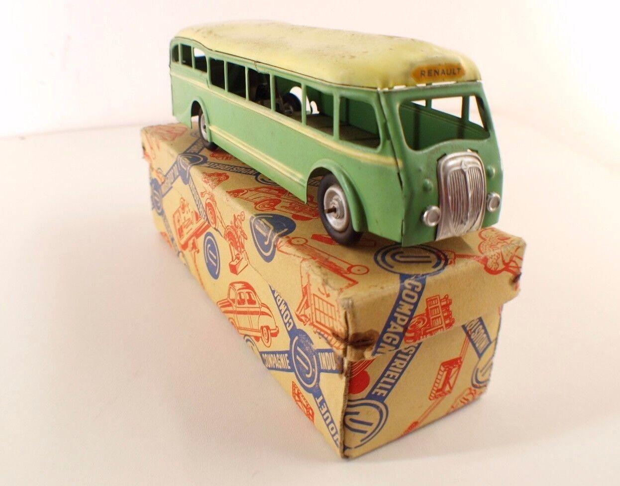 Cij Francia N º 6.10 Car Renault Bus Autobús Mecánico Tin Toy