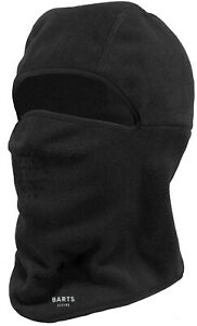 2020-NEW-ADULT-BARTS-POLYESTER-MICROFIBRE-WARM-WICKING-FLEECE-BALACLAVA-BLACK