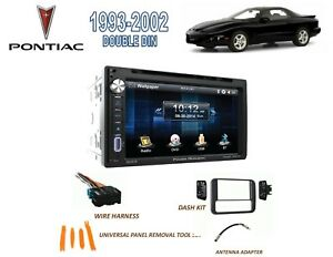 s l300 1993 2002 pontiac firebird trans am double din stereo kit, bluetooth