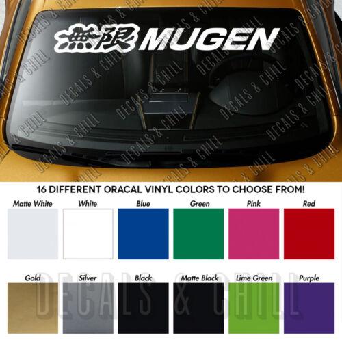 """MUGEN Honda Windshield Banner Civic Type R Vinyl Premium Decal Sticker 40/"""""""