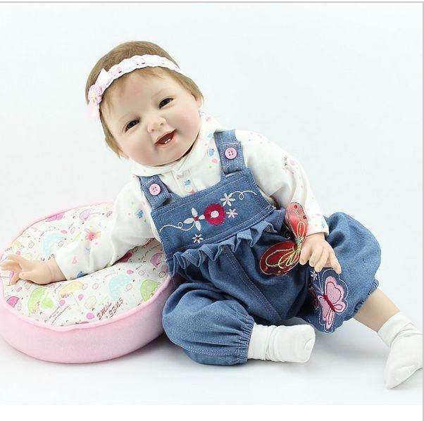 22  Vinilo Hecho a Mano realista Reborn Bebé niñas recién nacido realista de silicona muñecas