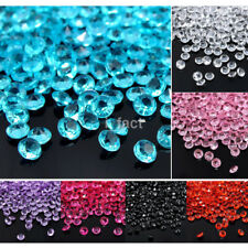 1000PCS 4mm Diamond Confetti Crystal Acrylic Wedding Party Table Scatter DecorB9