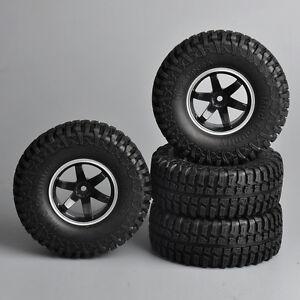 4Pcs-1-9-034-Rubber-Car-Tire-Wheels-Set-12mm-Hex-For-RC-1-10-Rock-Crawler-Car-Truck