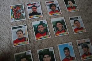 Raro-Panini-Copa-del-Mundo-1998-Francia-039-98-Pegatinas-tarjetas-Espana-seleccion-de-pop-up