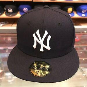 New-Era-59FIFTY-New-York-Yankees-Fitted-Hat-Cap-Navy-White-Grey-Bottom