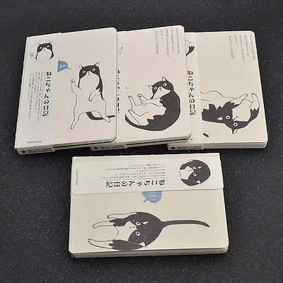 Cute Cat Print Paper Notebook Japanese Diary Travel Journal Child Kid Book 1pc {