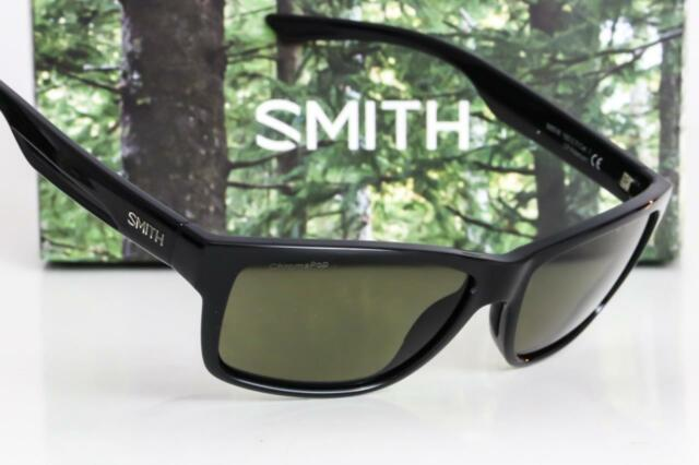 001e116119 NEW SMITH WOLCOTT SUNGLASSES Black frame   Gray-Green Chromapop Polarized  lens