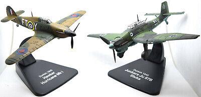 Dunkirk 1940 Hawker Hurricane /& Junkers Stuka Aircraft 4909002 1:72 Scale Model