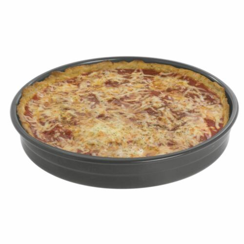 Exact Stack® Deep Dish Pizza Stackable Pans Bundy Chicago Metallic Glazed 75012