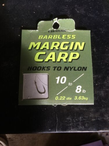 Drennan fishing Hooks Barbless Margin Carp 10 To 8lb