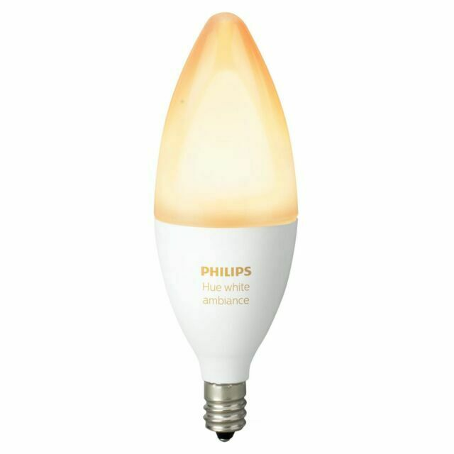 Philips Hue White Ambience E14 Candle Lamp.