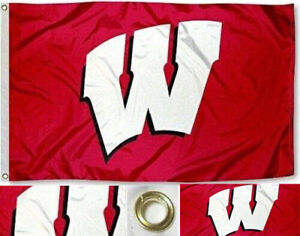 Wisconsin Badgers Mascot 3x5 Banner Flag