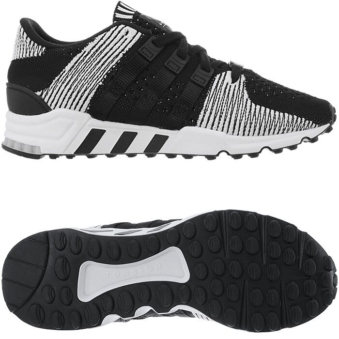 Adidas equipment EQT support RF primeknit negro señores low-Top zapatillas nuevo