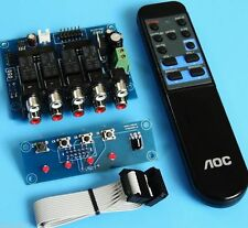 (DIY kit) 4 way remote Audio input choose kit with memory fuction