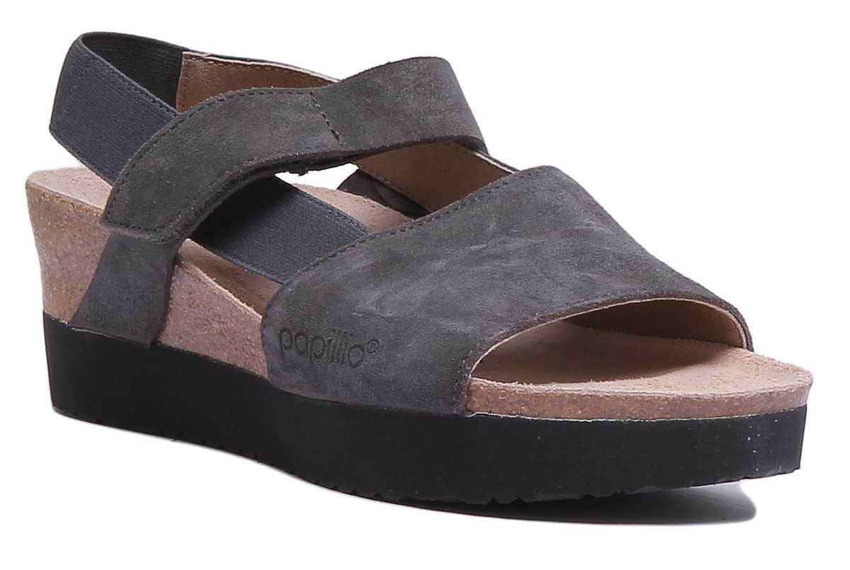 Papillio Linda Vl Womens Antracite Suede Leather Sandal UK Size 3 - 8