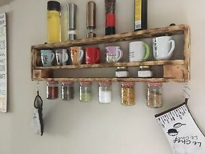 Küchenregal aus europaletten  Küchenregal,Gewürzregal, Regal, Europaletten,Palettenmöbel | eBay