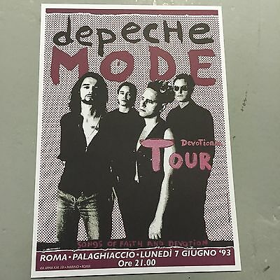 DEPECHE MODE - CONCERT POSTER  ROMA ITALY 1993     (A3 SIZE)