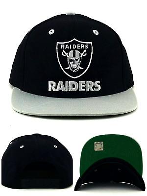 88565ff41 Oakland Raiders New NFL Proline Vintage Black Gray Era Cotton Snapback Hat  Cap | eBay