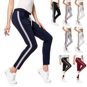 Hachiro Damen Stoffhose Stretchhose Jogginghose Freizeithose Sportswear Stretch