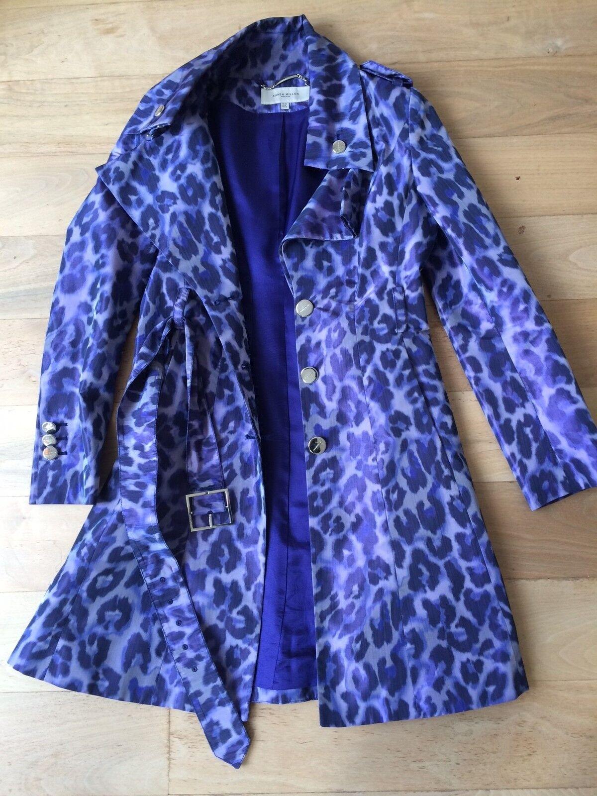 Karen Millen Coat Size Purple animal print - autumn coat