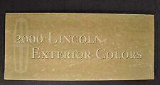 2000 Lincoln Paint Chip Colors Brochure Continental LS Town Car Navigator