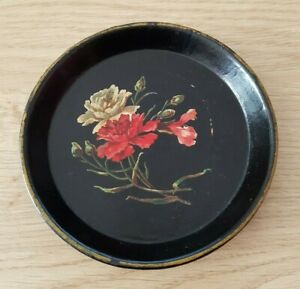 Klein Tablett Aus Karton Gekautschte Zeit Napoleon III Dekor Floral