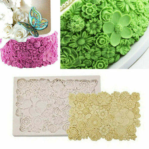 Flower Daisy Rose Silicone Cake Fondant Decorating Border Mould Baking Mold Szh