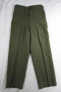 Vtg-50s-M-1951-US-Army-Wool-Combat-Pants-Trousers-32x31-5-Korean-War-1953-Date