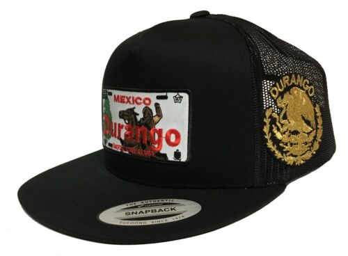 PLACA DE DURANGO LOGO FEDERAL 2 LOGOS HAT BLACK MESH SNAPBACK