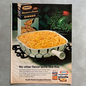 Vintage-Kraft-Boxed-Macaroni-and-Cheese-Dinner-Photo-Print-Magazine-Ad-1968