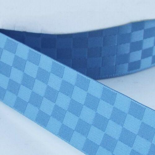 LOVELY 15 COLOUR 25mm Square Satin Ribbon Woven Geometric Washable Buy 1 2 4 8m
