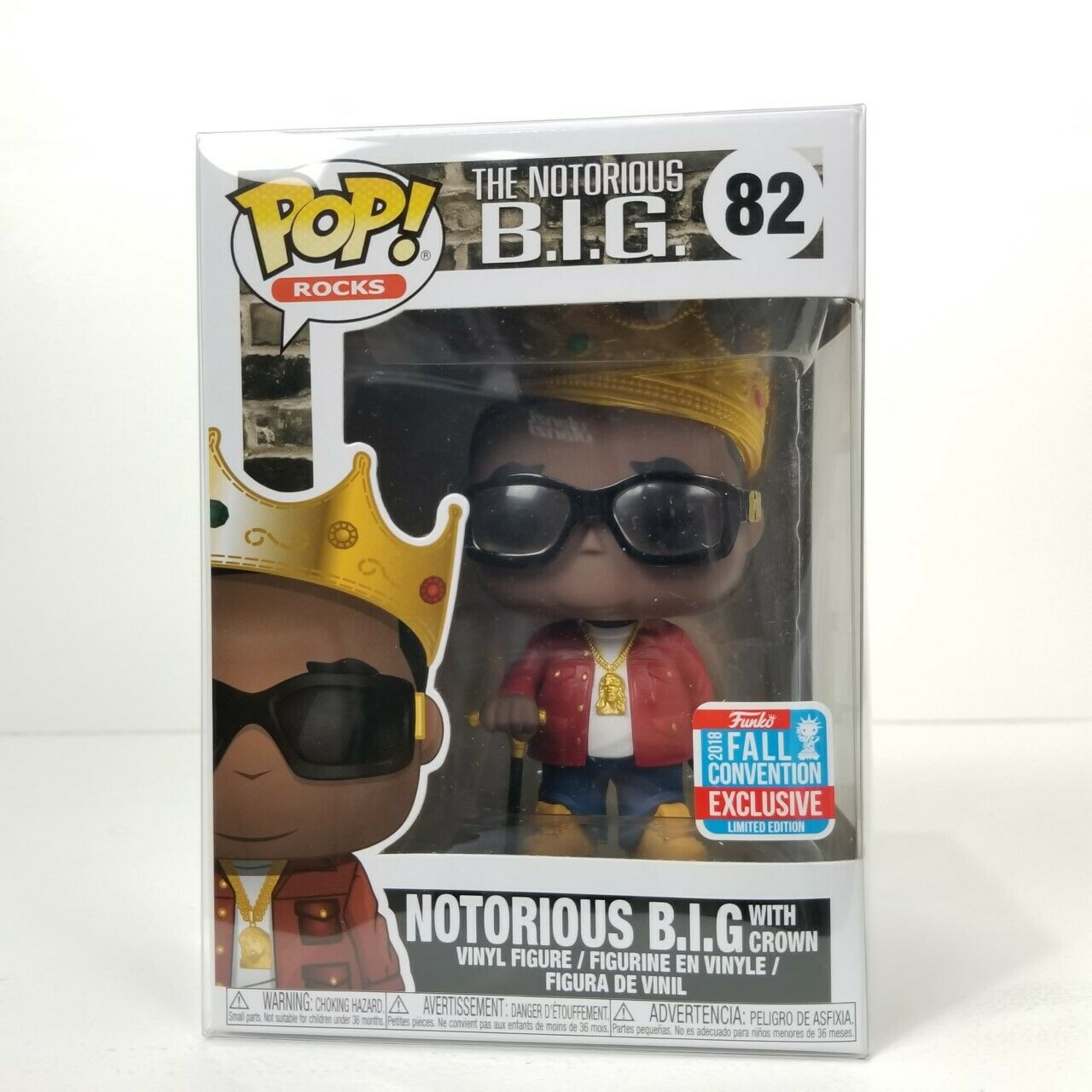 82 The Notorious B.I.G Funko Pop with 3.75 Protector
