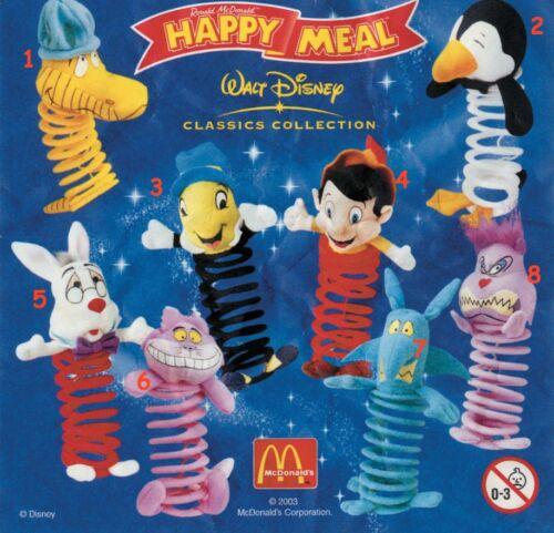 McDonald/'s MC DONALD/'S HAPPY MEAL 2003 Disney Classic Molle Pezzi singoli
