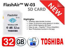 Toshiba FlashAir W-0 New 32GB SDHC Wireless LAN Class 10 Wi-Fi SD Flash Card