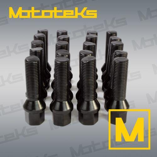 228i 320i X3 Set of 20 Black 14x1.25 BMW Stock Length 28mm Lug Bolts Fit 2014