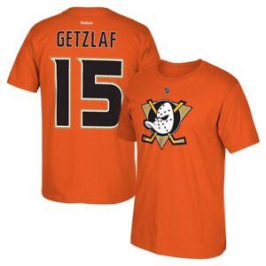 pretty nice 98577 5ec23 Details about Ryan Getzlaf Reebok Anaheim Ducks Player N&N Jersey Orange  T-Shirt Men's