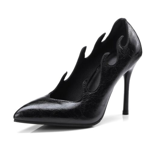 Ladies Pointed Toes Shoes Synthetic Leather High Heels Party Pumps UK Size S681