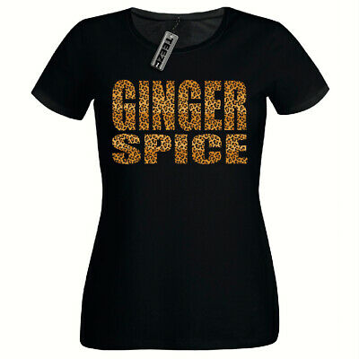 Leopard Print Ginger Spice Tshirt Ladies Fitted Tshirt,Spice Girls T Shirt