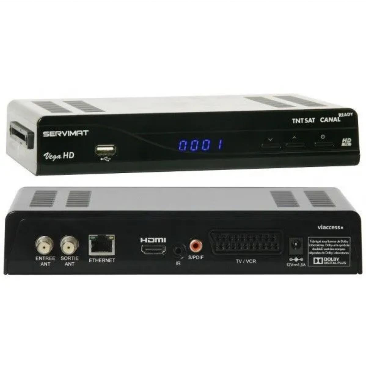 Photo 11 - RECEPTEUR-NUMERIQUE-SERVIMAT-VEGA-HD-ET-CORDON-HDMI-SANS-CARTE-TNTSAT