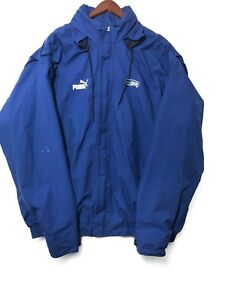 size 40 fe4b6 64e6e Details about Seattle Seahawks Vintage Puma Rain Jacket Blue And Grey XL