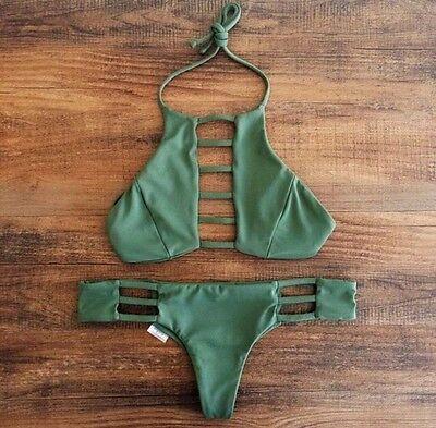 Women Sexy Bandage Bikini Set Bra Triangle Beachwear Swimsuit Swimwear UK 6-14