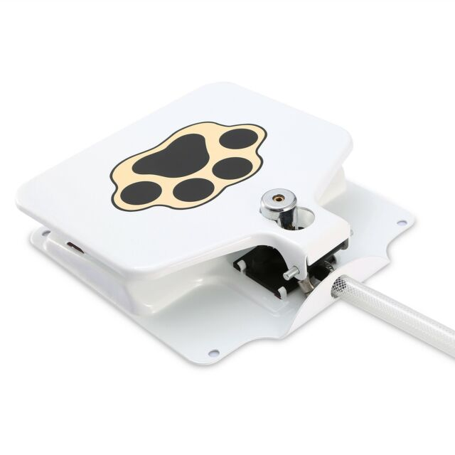 Dog Pet Drinking Activated Water Fountain With Step on Paw Pedal Valve Outdoor