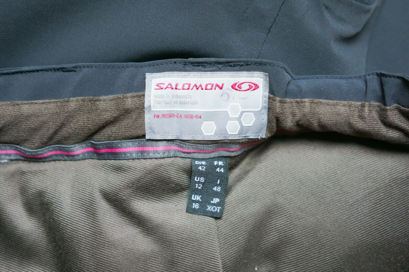 Damen Salomon Hose Snowboarding Skifahren Wasserfest M Uk12 Uk12 Uk12 W34 L32 Xij699 135438